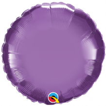 "Purple Chrome Foil Balloon (18"" Round) 1pc"